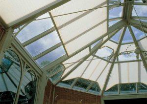 Kışbahçesi çatı perde uygulaması plise perde